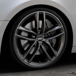 BBS SX kristall-schwarz Felge mit Reifen in 20Zoll Winterfelge Alufelge auf silbernem Audi A4 Typ B9 (Avant) ⬇️ mit 15mm Tieferlegung ⬇️ Industriehalle 1 Thumbnail