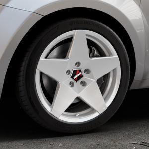 Borbet A brilliant silver Felge mit Reifen silber in 17Zoll Winterfelge Alufelge auf silbernem Alfa Romeo Mito Typ 955 ⬇️ mit 15mm Tieferlegung ⬇️ Industriehalle 1 Thumbnail