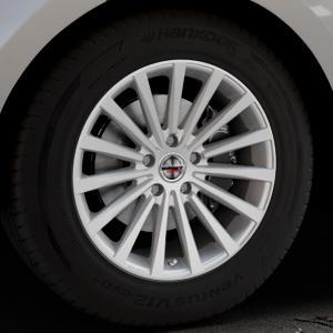 Borbet BLX brilliant silver Felge mit Reifen silber in 18Zoll Winterfelge Alufelge auf silbernem Land Rover Range Velar Typ LY ⬇️ mit 15mm Tieferlegung ⬇️ Industriehalle 1 Thumbnail