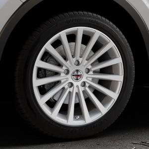 Borbet BLX brilliant silver Felge mit Reifen silber in 18Zoll Winterfelge Alufelge auf silbernem Toyota C-HR Typ AX1T(EU,M) AX1T(EU,M)-TMG ⬇️ mit 15mm Tieferlegung ⬇️ Industriehalle 1 Thumbnail