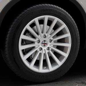 Borbet BLX brilliant silver Felge mit Reifen silber in 18Zoll Winterfelge Alufelge auf silbernem Volvo XC40 Typ X ⬇️ mit 15mm Tieferlegung ⬇️ Industriehalle 1 Thumbnail