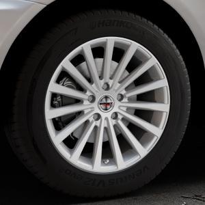 Borbet BLX brilliant silver Felge mit Reifen silber in 18Zoll Winterfelge Alufelge auf silbernem Volvo XC60 Typ D ⬇️ mit 15mm Tieferlegung ⬇️ Industriehalle 1 Thumbnail
