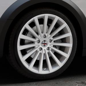 Borbet BLX brilliant silver Felge mit Reifen silber in 19Zoll Winterfelge Alufelge auf silbernem Audi A4 Typ B9 Allroad ⬇️ mit 15mm Tieferlegung ⬇️ Industriehalle 1 Thumbnail