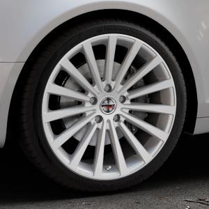 Borbet BLX brilliant silver Felge mit Reifen silber in 19Zoll Winterfelge Alufelge auf silbernem Audi A6 Typ 4F/C6 (Avant) ⬇️ mit 15mm Tieferlegung ⬇️ Industriehalle 1 Thumbnail