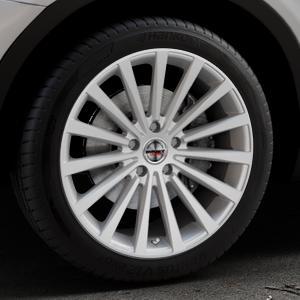Borbet BLX brilliant silver Felge mit Reifen silber in 19Zoll Winterfelge Alufelge auf silbernem BMW X3 Typ F25 (X3, X-N1) ⬇️ mit 15mm Tieferlegung ⬇️ Industriehalle 1 Thumbnail