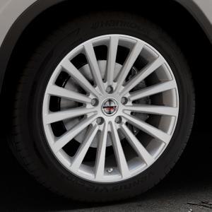 Borbet BLX brilliant silver Felge mit Reifen silber in 19Zoll Winterfelge Alufelge auf silbernem BMW X3 Typ G01 (G3X) ⬇️ mit 15mm Tieferlegung ⬇️ Industriehalle 1 Thumbnail