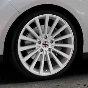 Borbet BLX brilliant silver Felge mit Reifen silber in 19Zoll Winterfelge Alufelge auf silbernem Ford C-Max II Typ DXA (10->) ⬇️ mit 15mm Tieferlegung ⬇️ Industriehalle 1 Thumbnail