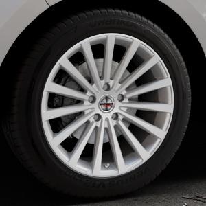 Borbet BLX brilliant silver Felge mit Reifen silber in 19Zoll Winterfelge Alufelge auf silbernem Ford Edge Typ SBF ⬇️ mit 15mm Tieferlegung ⬇️ Industriehalle 1 Thumbnail