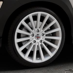 Borbet BLX brilliant silver Felge mit Reifen silber in 19Zoll Winterfelge Alufelge auf silbernem Hyundai Kona Typ OS ⬇️ mit 15mm Tieferlegung ⬇️ Industriehalle 1 Thumbnail
