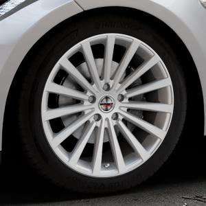 Borbet BLX brilliant silver Felge mit Reifen silber in 19Zoll Winterfelge Alufelge auf silbernem Tesla Model S Typ 002 ⬇️ mit 15mm Tieferlegung ⬇️ Industriehalle 1 Thumbnail