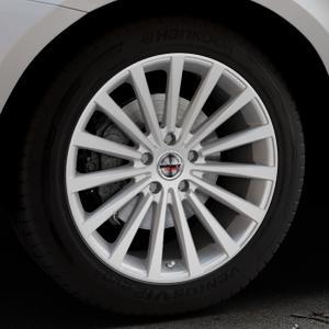 Borbet BLX brilliant silver Felge mit Reifen silber in 19Zoll Winterfelge Alufelge auf silbernem Volvo XC60 Typ D Facelift ⬇️ mit 15mm Tieferlegung ⬇️ Industriehalle 1 Thumbnail