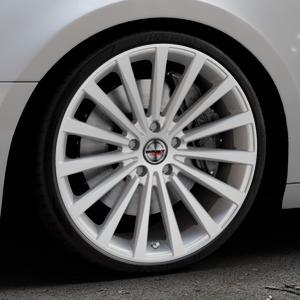 Borbet BLX brilliant silver Felge mit Reifen silber in 20Zoll Winterfelge Alufelge auf silbernem Audi A4 Typ B9 (Avant) ⬇️ mit 15mm Tieferlegung ⬇️ Industriehalle 1 Thumbnail