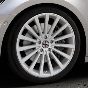 Borbet BLX brilliant silver Felge mit Reifen silber in 20Zoll Winterfelge Alufelge auf silbernem Audi A7 Typ F2/C8 (Sportback) ⬇️ mit 15mm Tieferlegung ⬇️ Industriehalle 1 Thumbnail