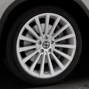 Borbet BLX brilliant silver Felge mit Reifen silber in 20Zoll Winterfelge Alufelge auf silbernem BMW X3 Typ G01 (G3X) ⬇️ mit 15mm Tieferlegung ⬇️ Industriehalle 1 Thumbnail