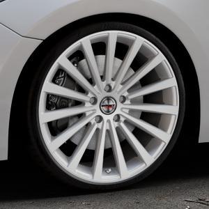 Borbet BLX brilliant silver Felge mit Reifen silber in 20Zoll Winterfelge Alufelge auf silbernem Mazda 3 (13-) Stufenheck (BM) Sport (17-) Facelift Fließheck ⬇️ mit 15mm Tieferlegung ⬇️ Industriehalle 1 Thumbnail