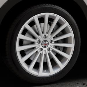 Borbet BLX brilliant silver Felge mit Reifen silber in 20Zoll Winterfelge Alufelge auf silbernem Mazda CX-5 Typ KE ⬇️ mit 15mm Tieferlegung ⬇️ Industriehalle 1 Thumbnail