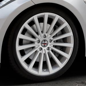 Borbet BLX brilliant silver Felge mit Reifen silber in 20Zoll Winterfelge Alufelge auf silbernem Tesla Model S Typ 002 ⬇️ mit 15mm Tieferlegung ⬇️ Industriehalle 1 Thumbnail