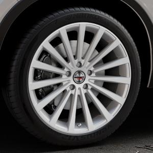 Borbet BLX brilliant silver Felge mit Reifen silber in 20Zoll Winterfelge Alufelge auf silbernem Volvo XC40 Typ X ⬇️ mit 15mm Tieferlegung ⬇️ Industriehalle 1 Thumbnail