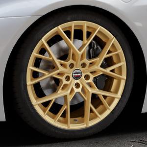 Borbet BY gold matt Felge mit Reifen in 20Zoll Winterfelge Alufelge auf silbernem BMW i8 Coupe (BMWi-2) ⬇️ mit 15mm Tieferlegung ⬇️ Industriehalle 1 Thumbnail