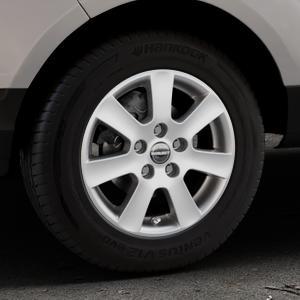 Borbet CA crystal silver Felge mit Reifen silber in 15Zoll Winterfelge Alufelge auf silbernem Ford EcoSport Typ JK8 ⬇️ mit 15mm Tieferlegung ⬇️ Industriehalle 1 Thumbnail