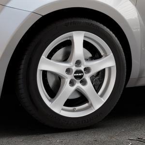 Borbet F brilliant silver Felge mit Reifen silber in 16Zoll Winterfelge Alufelge auf silbernem Alfa Romeo Mito Typ 955 ⬇️ mit 15mm Tieferlegung ⬇️ Industriehalle 1 Thumbnail