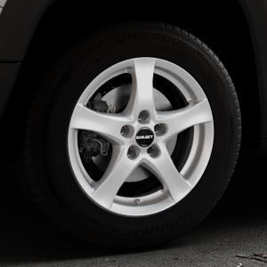 Borbet F brilliant silver Felge mit Reifen silber in 16Zoll Winterfelge Alufelge auf silbernem Jeep Renegade Typ BU ⬇️ mit 15mm Tieferlegung ⬇️ Industriehalle 1 Thumbnail