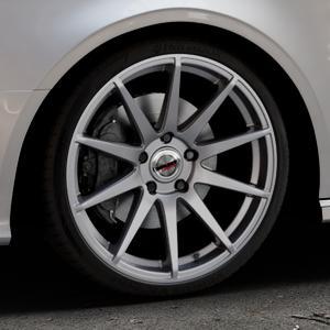 Borbet GTX titan glossy Felge mit Reifen grau in 19Zoll Winterfelge Alufelge auf silbernem Audi A3 Typ 8V (Cabriolet) ⬇️ mit 15mm Tieferlegung ⬇️ Industriehalle 1 Thumbnail