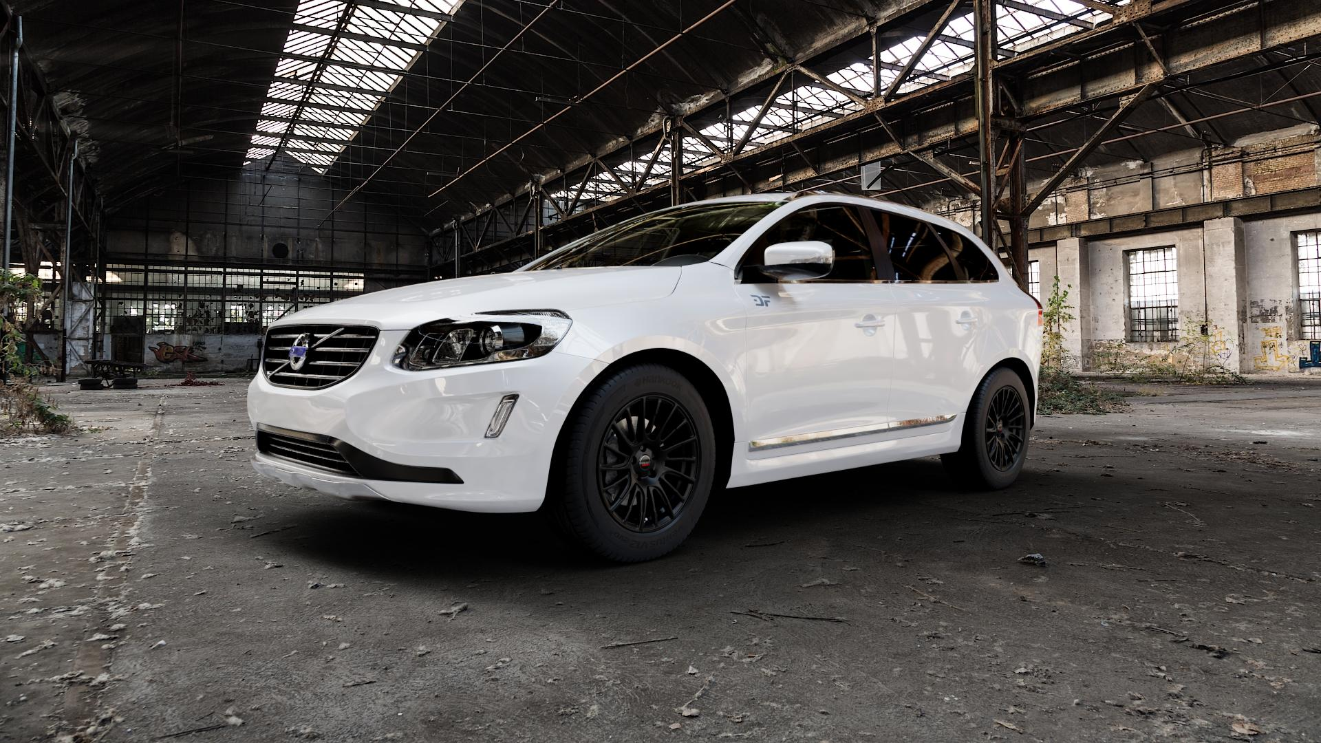Borbet LS2 black matt Felge mit Reifen schwarz in 18Zoll Winterfelge Alufelge auf weissem Volvo XC60 Typ D Facelift ⬇️ mit 15mm Tieferlegung ⬇️ Industriehalle 1 Camera_000