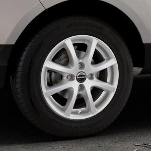Borbet LV4 crystal silver Felge mit Reifen silber in 15Zoll Winterfelge Alufelge auf silbernem Ford EcoSport Typ JK8 ⬇️ mit 15mm Tieferlegung ⬇️ Industriehalle 1 Thumbnail