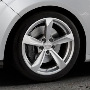 Borbet S brilliant silver Felge mit Reifen silber in 17Zoll Winterfelge Alufelge auf silbernem Ford Focus III Typ DYB (Schrägheck) (Stufenheck) Facelift ⬇️ mit 15mm Tieferlegung ⬇️ Industriehalle 1 Thumbnail