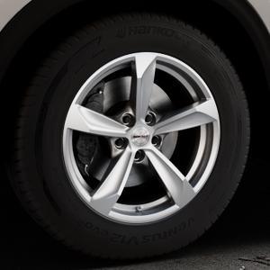 Borbet S brilliant silver Felge mit Reifen silber in 17Zoll Winterfelge Alufelge auf silbernem Mazda CX-5 Typ KF ⬇️ mit 15mm Tieferlegung ⬇️ Industriehalle 1 Thumbnail