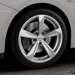 Borbet S brilliant silver Felge mit Reifen silber in 17Zoll Winterfelge Alufelge auf silbernem Opel Astra K Typ B-K ⬇️ mit 15mm Tieferlegung ⬇️ Industriehalle 1 Thumbnail