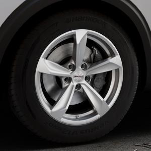 Borbet S brilliant silver Felge mit Reifen silber in 17Zoll Winterfelge Alufelge auf silbernem Peugeot 5008 Typ M ⬇️ mit 15mm Tieferlegung ⬇️ Industriehalle 1 Thumbnail