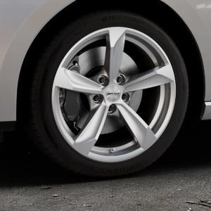Borbet S brilliant silver Felge mit Reifen silber in 17Zoll Winterfelge Alufelge auf silbernem Seat Leon Typ 5F ST Facelift ⬇️ mit 15mm Tieferlegung ⬇️ Industriehalle 1 Thumbnail