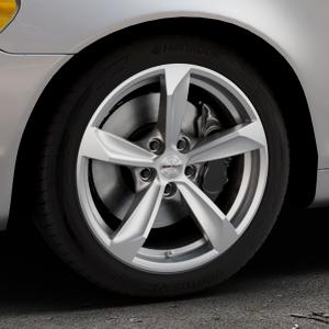 Borbet S brilliant silver Felge mit Reifen silber in 17Zoll Winterfelge Alufelge auf silbernem Volvo C70 II Cabriolet Typ M ⬇️ mit 15mm Tieferlegung ⬇️ Industriehalle 1 Thumbnail