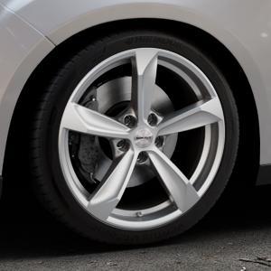 Borbet S brilliant silver Felge mit Reifen silber in 18Zoll Winterfelge Alufelge auf silbernem Ford Focus III Typ DYB Facelift (Schrägheck) ⬇️ mit 15mm Tieferlegung ⬇️ Industriehalle 1 Thumbnail