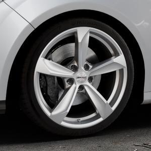 Borbet S brilliant silver Felge mit Reifen silber in 18Zoll Winterfelge Alufelge auf silbernem Ford Focus III Typ DYB (Schrägheck) (Stufenheck) Facelift ⬇️ mit 15mm Tieferlegung ⬇️ Industriehalle 1 Thumbnail