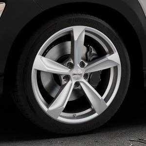 Borbet S brilliant silver Felge mit Reifen silber in 18Zoll Winterfelge Alufelge auf silbernem Hyundai Kona Typ OS ⬇️ mit 15mm Tieferlegung ⬇️ Industriehalle 1 Thumbnail
