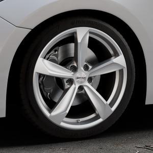 Borbet S brilliant silver Felge mit Reifen silber in 18Zoll Winterfelge Alufelge auf silbernem Mazda 3 (13-) Stufenheck (BM) Sport (17-) Facelift Fließheck ⬇️ mit 15mm Tieferlegung ⬇️ Industriehalle 1 Thumbnail