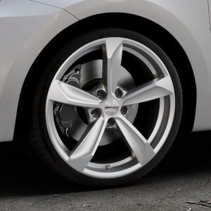 Borbet S brilliant silver Felge mit Reifen silber in 18Zoll Winterfelge Alufelge auf silbernem Suzuki Swift VI Typ AZ ⬇️ mit 15mm Tieferlegung ⬇️ Industriehalle 1 Thumbnail