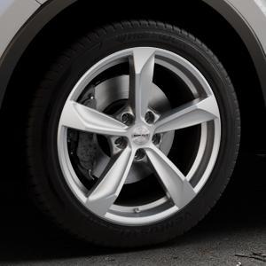 Borbet S brilliant silver Felge mit Reifen silber in 18Zoll Winterfelge Alufelge auf silbernem Toyota C-HR Typ AX1T(EU,M) AX1T(EU,M)-TMG ⬇️ mit 15mm Tieferlegung ⬇️ Industriehalle 1 Thumbnail