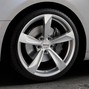 Borbet S brilliant silver Felge mit Reifen silber in 19Zoll Winterfelge Alufelge auf silbernem Audi A5 Typ B9 (Coupé) (Cabriolet) ⬇️ mit 15mm Tieferlegung ⬇️ Industriehalle 1 Thumbnail