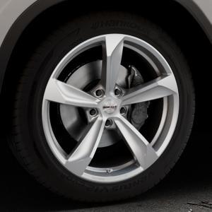 Borbet S brilliant silver Felge mit Reifen silber in 19Zoll Winterfelge Alufelge auf silbernem BMW X3 Typ G01 (G3X) ⬇️ mit 15mm Tieferlegung ⬇️ Industriehalle 1 Thumbnail