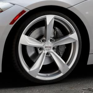 Borbet S brilliant silver Felge mit Reifen silber in 19Zoll Winterfelge Alufelge auf silbernem BMW Z4 Roadster Typ E89 (Z89, ZR) ⬇️ mit 15mm Tieferlegung ⬇️ Industriehalle 1 Thumbnail