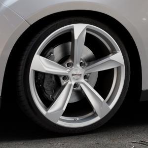 Borbet S brilliant silver Felge mit Reifen silber in 19Zoll Winterfelge Alufelge auf silbernem Ford Focus III Typ DYB Facelift (Schrägheck) ⬇️ mit 15mm Tieferlegung ⬇️ Industriehalle 1 Thumbnail