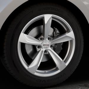 Borbet S brilliant silver Felge mit Reifen silber in 19Zoll Winterfelge Alufelge auf silbernem Land Rover Range Velar Typ LY ⬇️ mit 15mm Tieferlegung ⬇️ Industriehalle 1 Thumbnail
