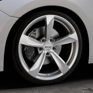 Borbet S brilliant silver Felge mit Reifen silber in 19Zoll Winterfelge Alufelge auf silbernem Mazda 3 (13-) Stufenheck (BM) Sport (17-) Facelift Fließheck ⬇️ mit 15mm Tieferlegung ⬇️ Industriehalle 1 Thumbnail