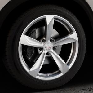 Borbet S brilliant silver Felge mit Reifen silber in 19Zoll Winterfelge Alufelge auf silbernem Mazda CX-5 Typ KF ⬇️ mit 15mm Tieferlegung ⬇️ Industriehalle 1 Thumbnail