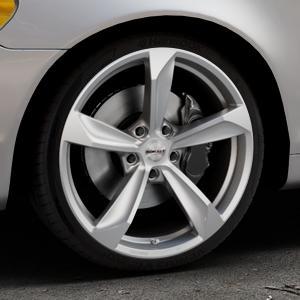Borbet S brilliant silver Felge mit Reifen silber in 19Zoll Winterfelge Alufelge auf silbernem Volvo C70 II Cabriolet Typ M ⬇️ mit 15mm Tieferlegung ⬇️ Industriehalle 1 Thumbnail