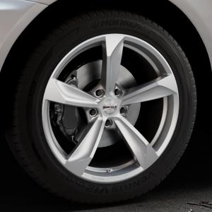 Borbet S brilliant silver Felge mit Reifen silber in 19Zoll Winterfelge Alufelge auf silbernem Volvo XC60 Typ D ⬇️ mit 15mm Tieferlegung ⬇️ Industriehalle 1 Thumbnail